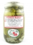 Hot Midget Dill Pickles w/ jalapeno peppers-16 oz.